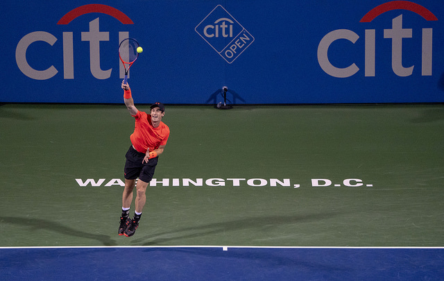 Andy Murray at the CITI Open Pic by Main pic: © Keith Allison reproduced under licence