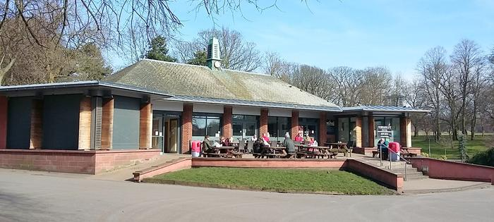 The cafe at Sefton Park