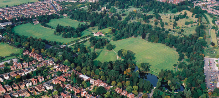 Bedford Park, aerial view