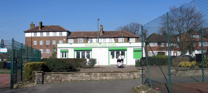 The cafe at Hendon Park