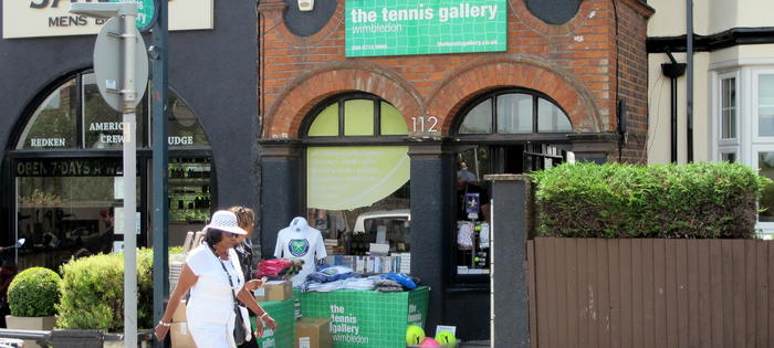 The famous Wimbledon Gallery, run league player Richard Jones