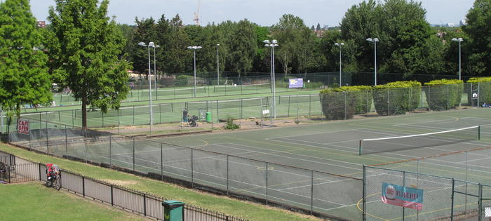 A great variety of courts and floodlights too